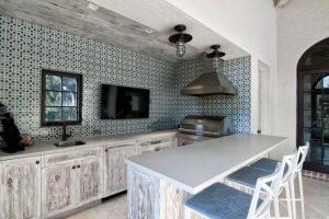 Outdoor Kitchen Tile Orange CA
