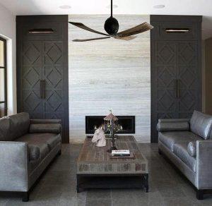 Fireplace Tile Surround Orange CA